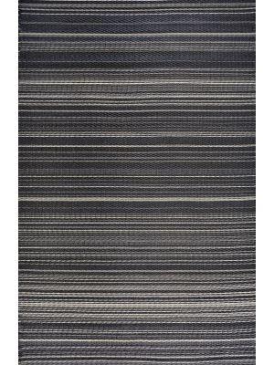 Reversible Indoor/Outdoor Mats - Chatai Rongoli - Black-90x150