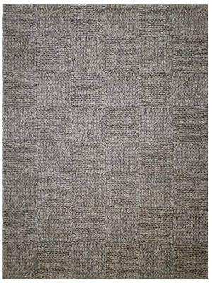 Braided Wool Rug - Ottawa 1014 - Ash Grey - 160x230