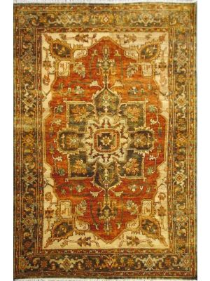 Authentic Style Sherapi-(102)-Rust/Green-143x219