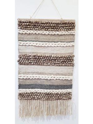 Handwoven Woolen Macrame - AD004 - Natural - 50x70