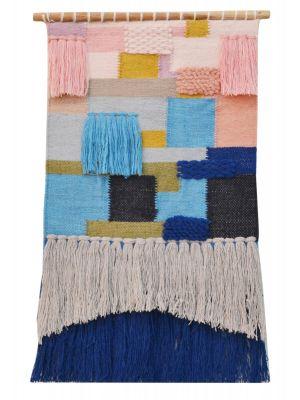 Handwoven Woollen Trendy Wall Hanging - AD014 - Multi - 50x90cm